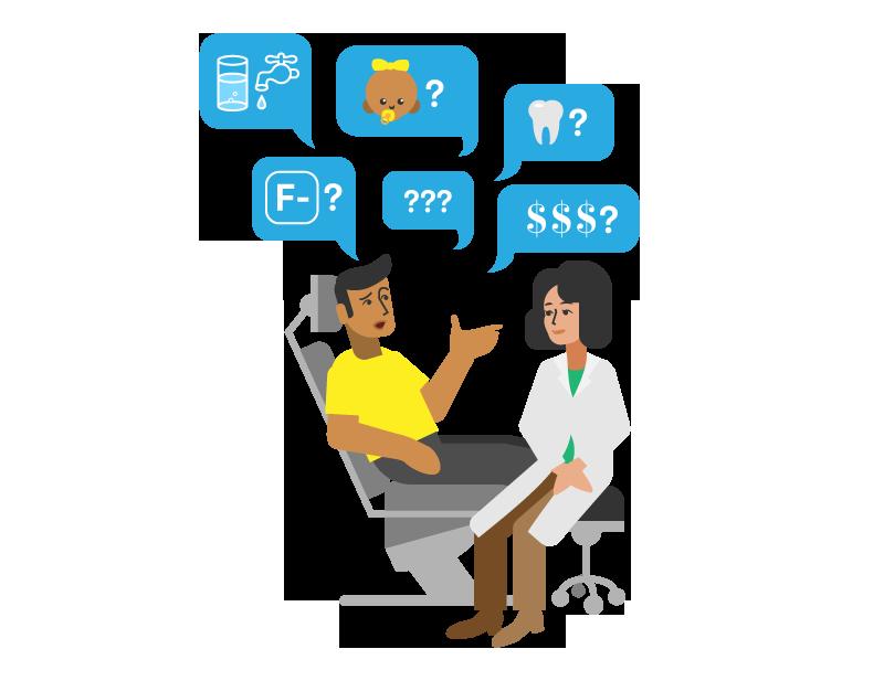 Dentist and patient fluoride conversation