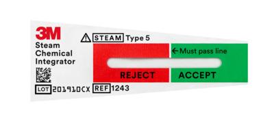 Integradores químicos de vapor 3M ™ Attest ™, tipo 5